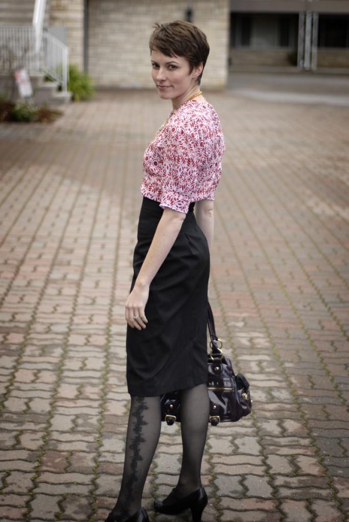 High waisted skirt back