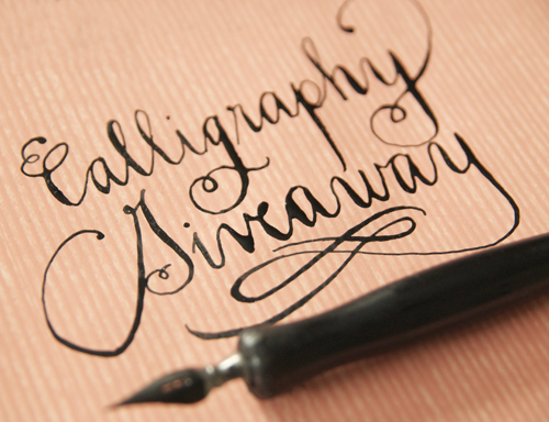 hand written calligraphy giveaway
