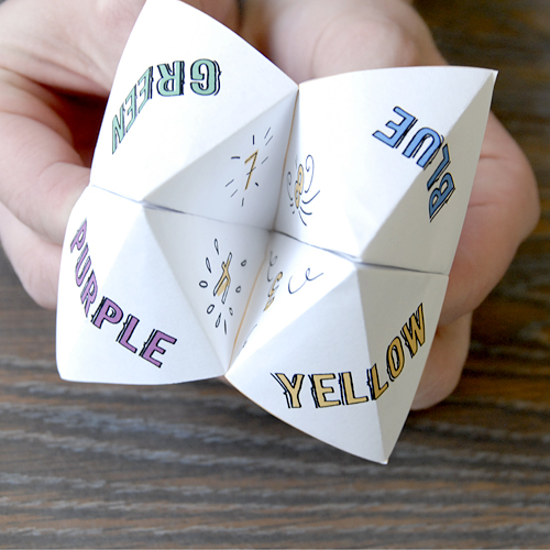 how to play paper fortune teller game